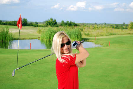 girl golf player Stock Photo - 8376819