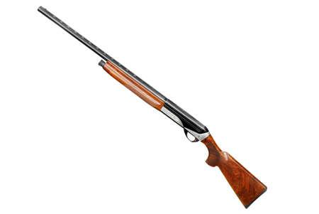 fusil de chasse: fusil de chasse isol� sur fond blanc