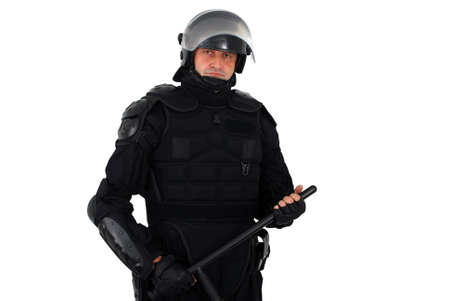 nightstick: riot police