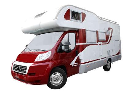 recreational vehicle truck isolated photo
