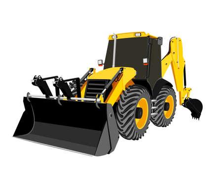 earthmoving: earth-moving bulldozer