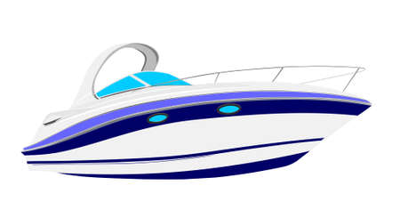 yacht illustration Vector
