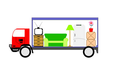 Moving truck Stock Illustratie