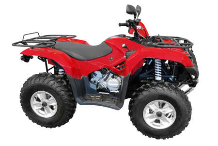 red atv isolated photo
