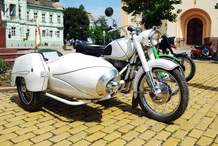 old motorcycle: vintage motorcycle