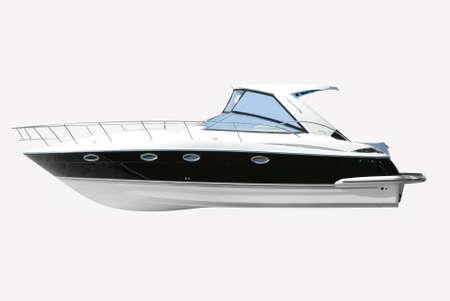 fast luxury yacht isolated on white photo