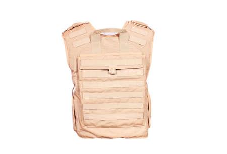 bulletproof: parte trasera del chaleco antibalas aislado