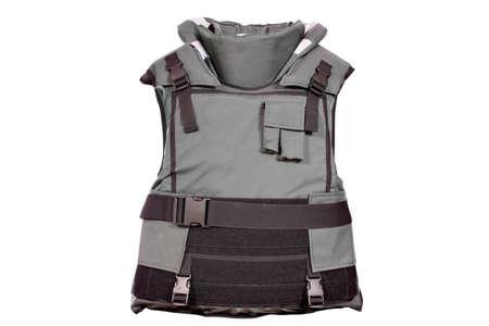 heavy bulletproof vest isolated Standard-Bild