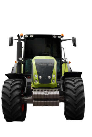 tractor front view isolated