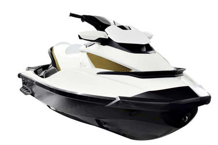 personal watercraft: jet ski front view isolated