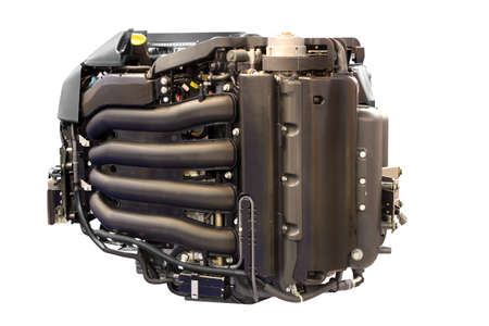 inner cylinder: power engine for yacht and ships isolated