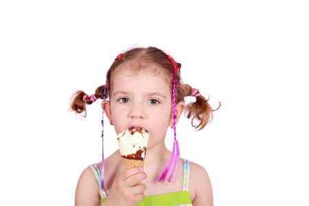kid with ice cream photo