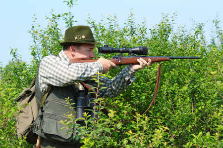 hunter with sniper rifle Stock Photo - 9688247