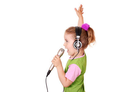 little girl singing photo