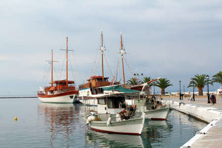 sithonia: fishing boats and sailboats