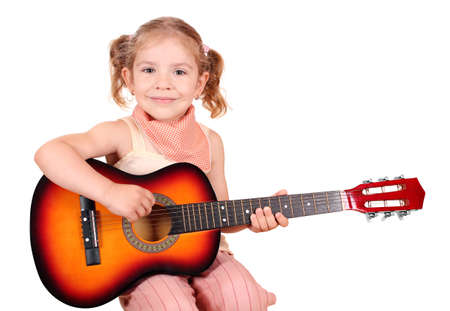 little girl with guitar photo