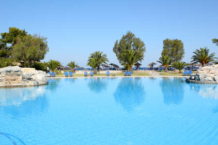 sithonia: swimming pool summer vacation scene