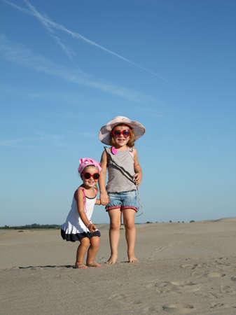 two happy little girl photo