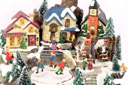 little town: little town winter scene