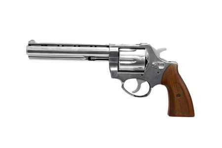 revolver isolated on white