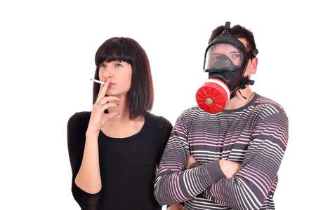 chica fumando: No fumar