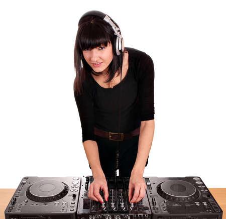 beauty girl dj techno party photo
