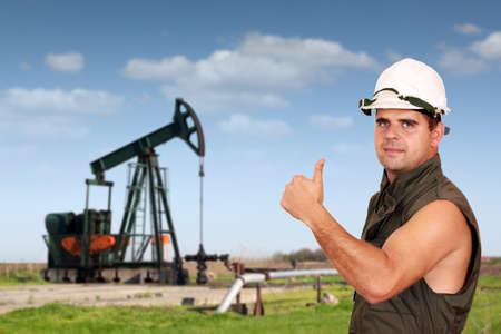oil worker: aceite de �xito de los trabajadores