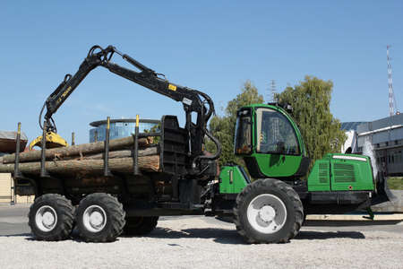 truck with log lumber industry photo
