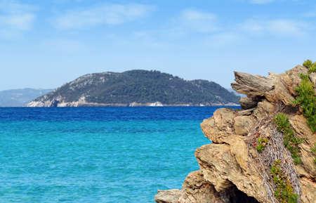 marmara: seascape with rocks and island