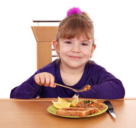little girl eating photo