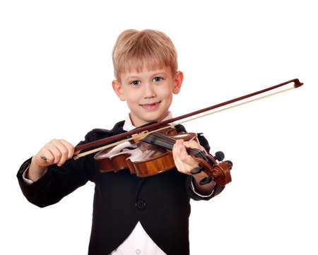 boy little violinist photo
