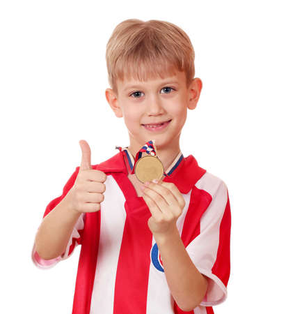 boy with gold medal winner Stock Photo - 13158159