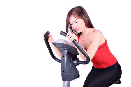 girl on cross trainer fitness exercise Stock Photo - 13362449