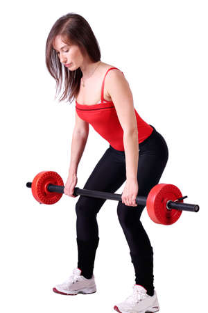 girl weight lifter fitness exercise Stock Photo - 13493026