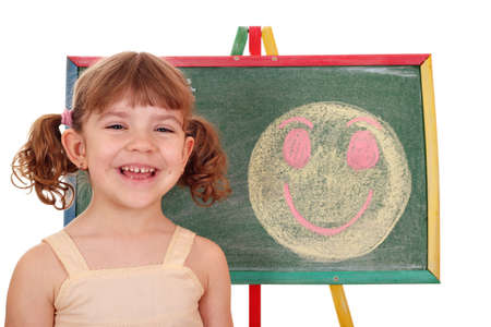 happy little girl with happy smiley Stock Photo - 13493115