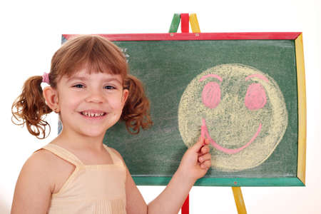 pequeña cara sonriente dibujo feliz Foto de archivo - 13569330