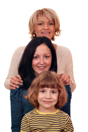 family three generation little girl teenage girl and woman Stock Photo - 15449942