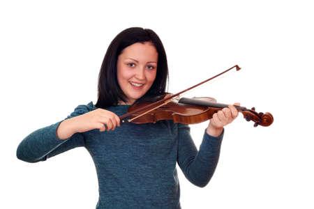 teenage girl playing violin Stock Photo - 15449934