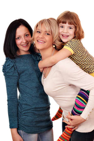 happy mother and daughters Stock Photo - 15608808