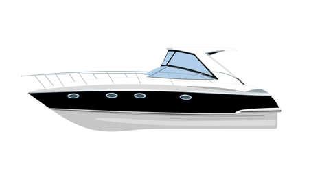 luxury yacht: yacht vector illustration