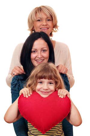 woman teenage and little girl family scene Stock Photo - 16324865