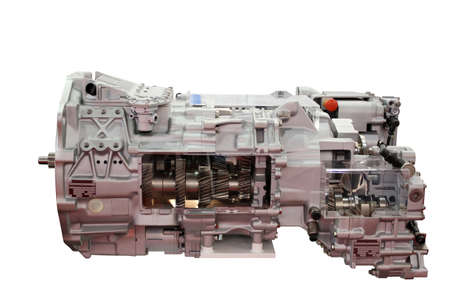 heavy truck automatic transmission isolated Stock Photo - 16487891