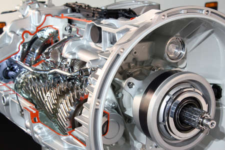 heavy truck transmission detail Standard-Bild