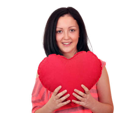 teenage girl with heart Stock Photo - 16487893
