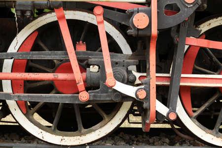 old steam locomotive wheels photo