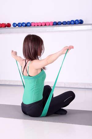girl fitness exercise backside healthy lifestyle Stock Photo - 17362317