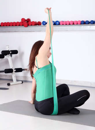 fitness healthy lifestyle girl exercise Stock Photo - 18236658