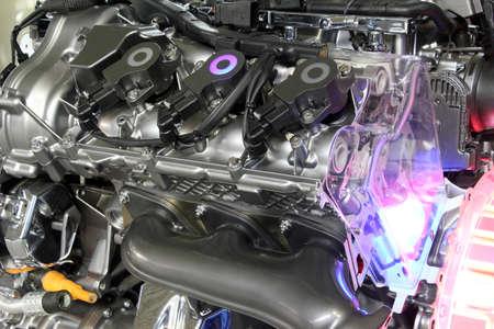 car hybrid engine futuristic technology