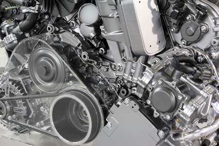 industrial machinery: powerful car engine new technology