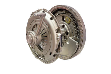 clutches: car clutch isolated on white  Stock Photo